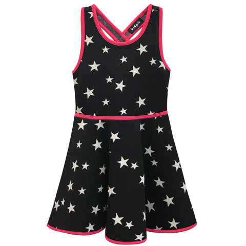 Star Cross Back Dress - Black