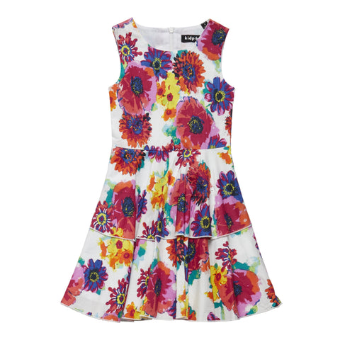 Floral Tiered Dress - Multi