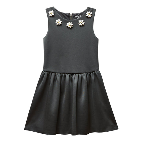 Daisy Jewel Dress - Black