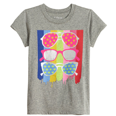 Sunglass Tee - Medium Heather Grey