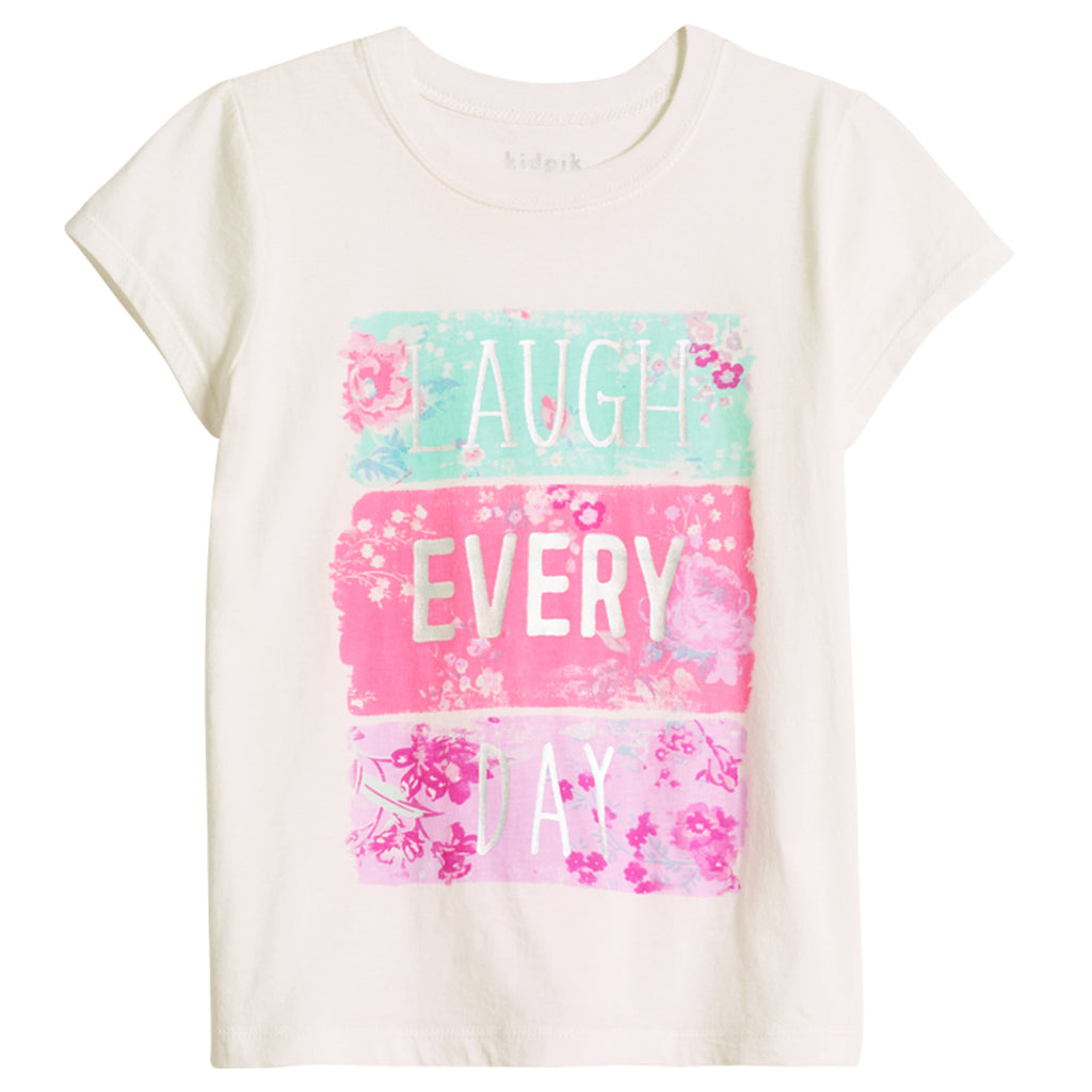 Laugh Everyday Tee - White
