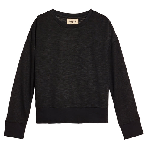 Slub Crewneck - Black