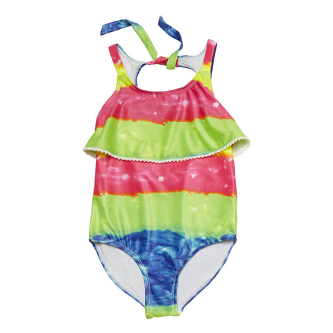 Rainbow Ruffle Swim - Multi