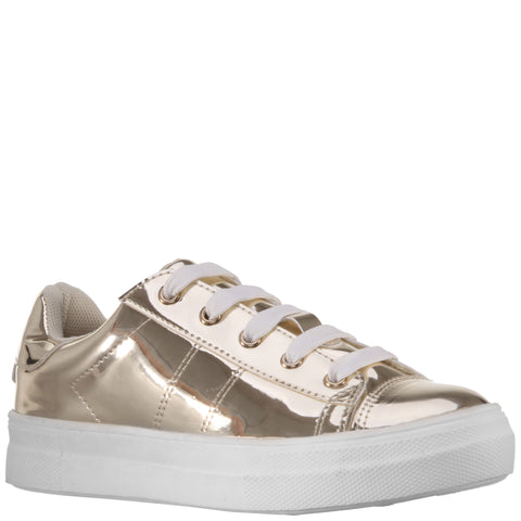 Super Shine Sneaker - Gold