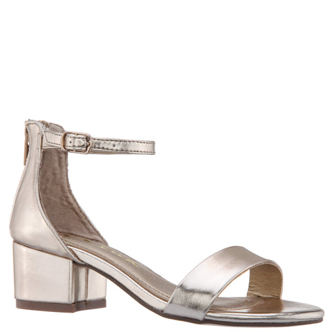 Single Strap Sandal - Platino