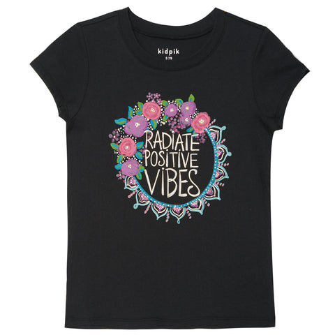 Positive Vibes Tee - Black