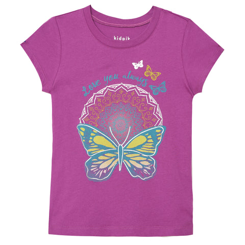 Medallion Butterfly Tee - Striking Purple