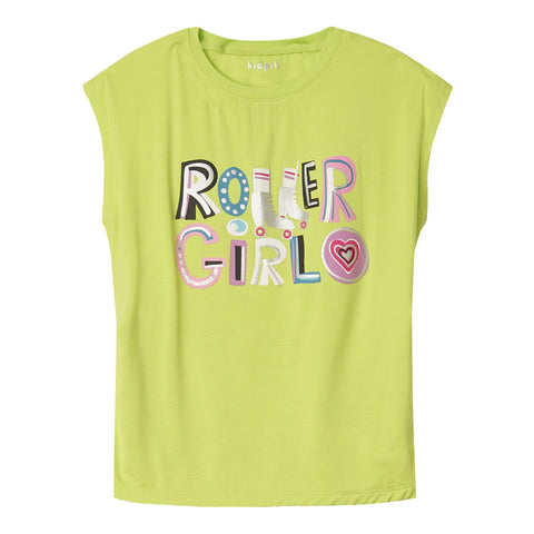 Roller Girl Sleeveless Tee - Acid Lime