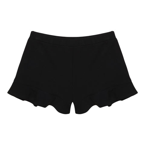 Ruffle Short - Black