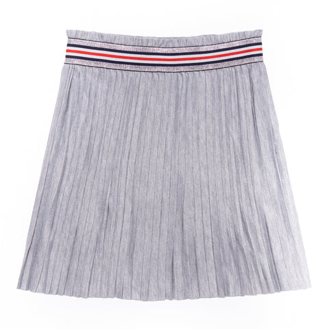 Simple Pleated Skirt - Light Heather Grey