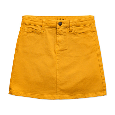Colored Denim Skirt - Mango Mojito