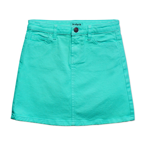 Colored Denim Skirt - Ceramic