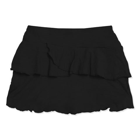Double Ruffle Skort - Black