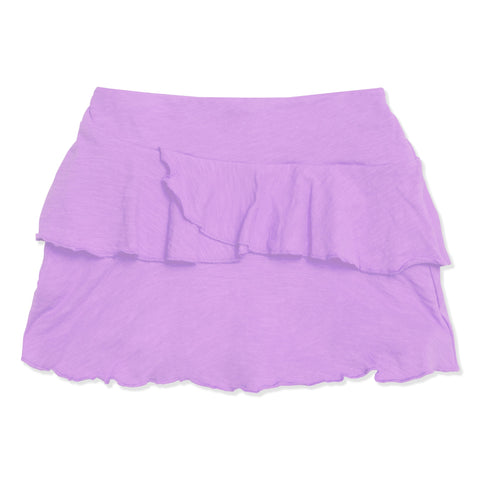 Double Ruffle Skort - Sheer Lilac