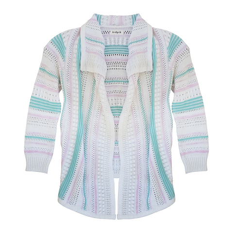 Stripe Pointelle Flyaway - Multi