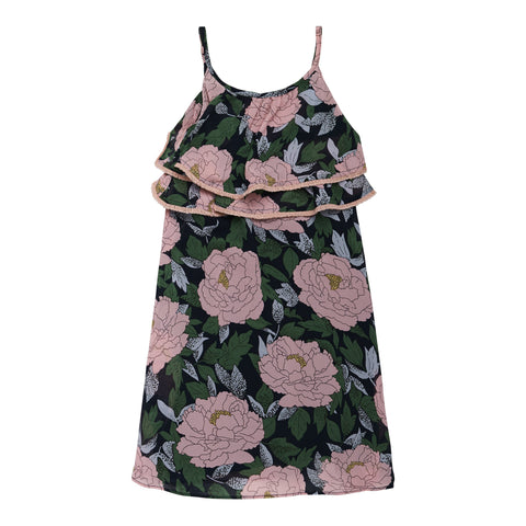 Exploded Floral Ruffle Dress - Wild Rose