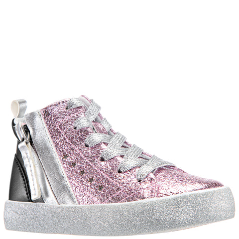 Crinkle Metallic High Top - Ballerina