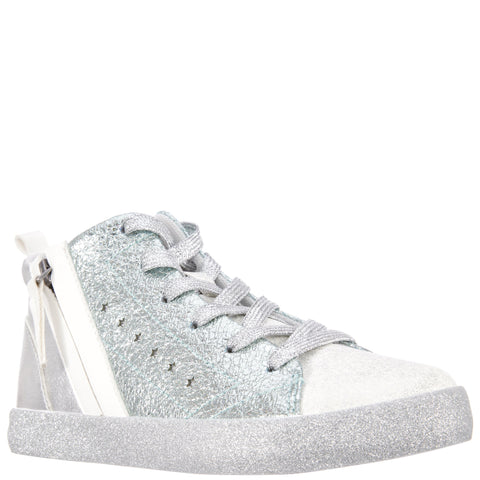 Crinkle Metallic High Top - Aqua Splash