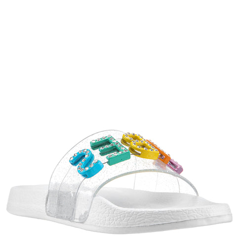 Beach Vibes Slide - White