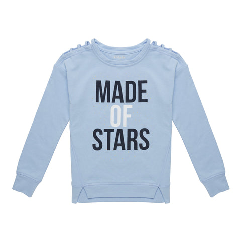 Made Of Stars Fleece Top - Blue Bell