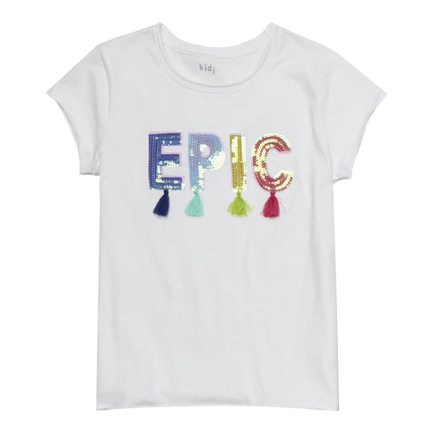 Epic Tassel Tee - White