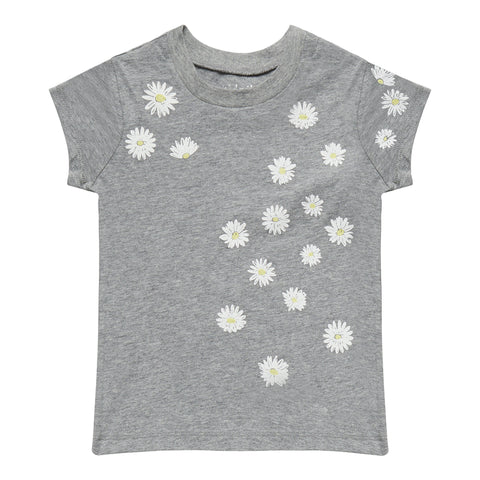 Floating Daisy Tee - Medium Heather Grey