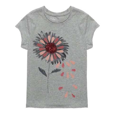 Photoreal Daisy Tee - Light Heather Grey