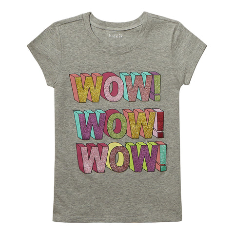 Wow Tee - Light Heather Grey