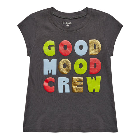 Good Mood Tee - Blackened Pearl