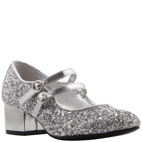 Double Strap Dress Shoe - Silver