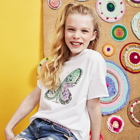 Sequined Butterfly Tee