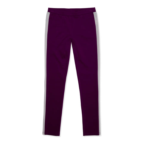 Side Stripe Ponte Legging - Pickled Beet