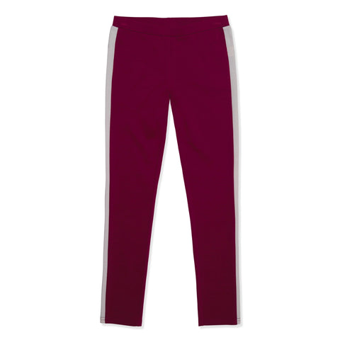 Side Stripe Ponte Legging - Rumba Red