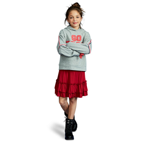Smock Tiered Skirt - Rio Red