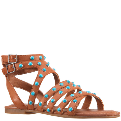 Studded Sandal - Tan