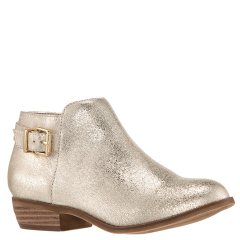 Crackle Side Buckle Bootie - Platino