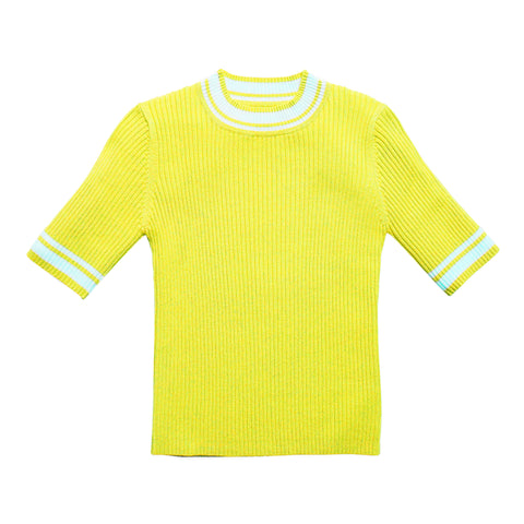 Tipped Rib Sweater - Limelight
