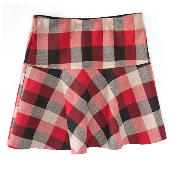 Buffalo Check Knit Skirt