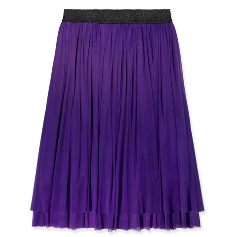 Layered Mesh Skirt - Dewberry