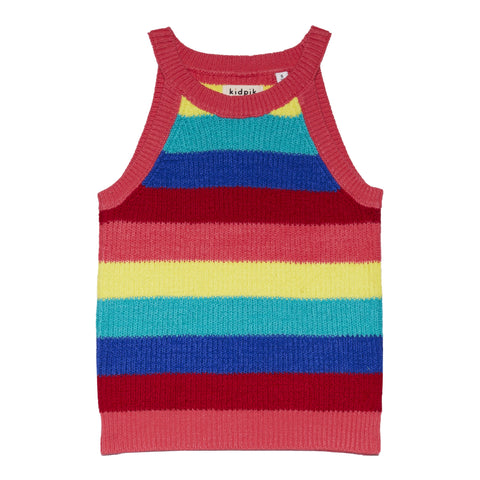 Rainbow Stripe Sweater Tank - Multi
