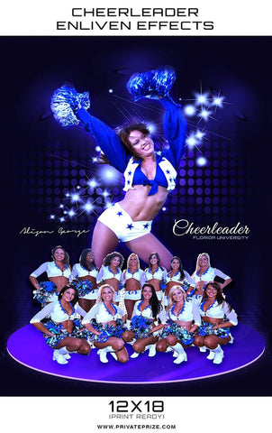Florida Cheerleader - Enliven Effects Photoshop Template