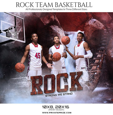 Rock Team – Themed Sports Photography Template