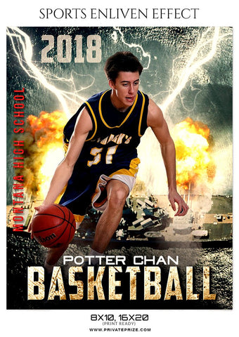 Best basketball Sports fire Photography templates.
