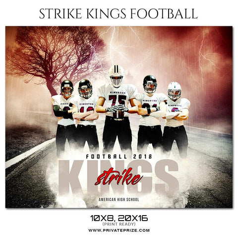 Lightning and Thunder Football Sports Photography Templates