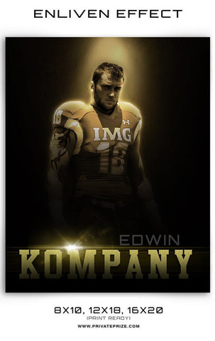 Kompany Enliven Effect Sports Photography Template