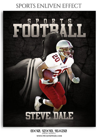 Steve Dale Football - Enliven Effect Sports Photography Template
