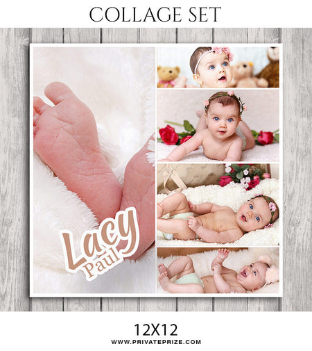 Lacy -New Born Collage Set - Photography Photoshop Template