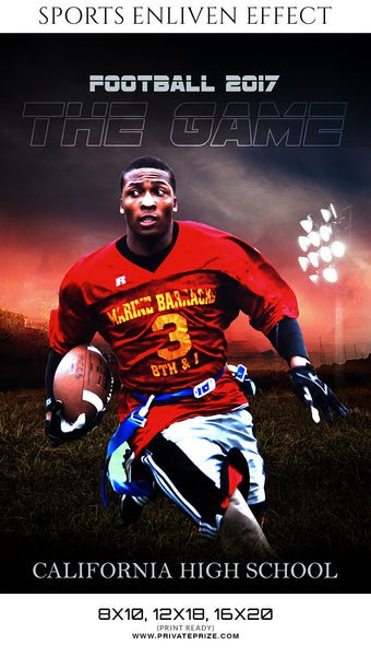 The Game Football -  Enliven Effects-Sports Template - Photography Photoshop Templates