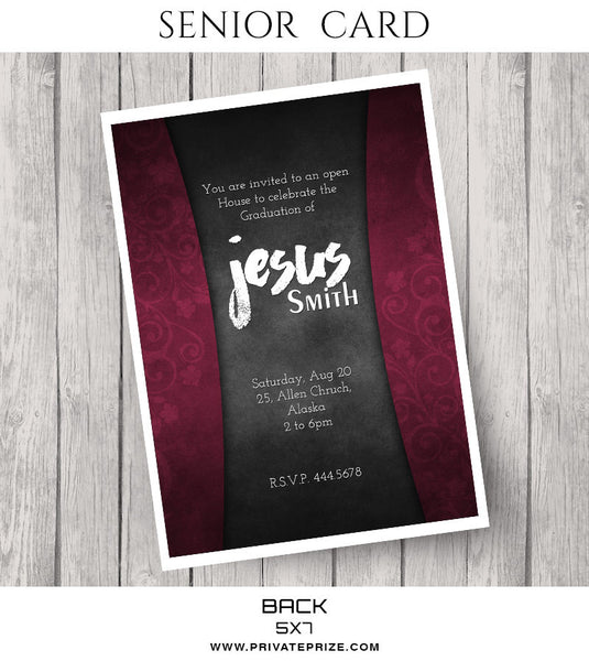 Jesus- Senior Photocard - Photography Photoshop Templates