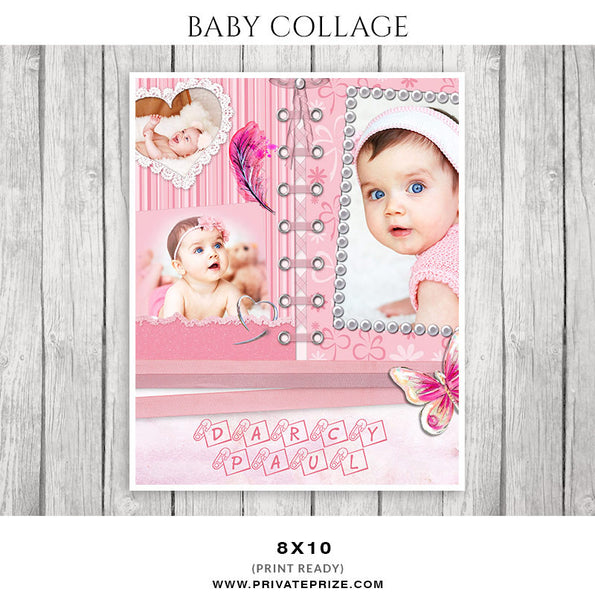 Baby Collage Set - Darcy Paul - Photography Photoshop Templates